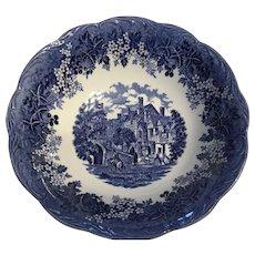 Vintage J&G MEAKIN England cobalt  Blue serving bowl