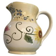1980s Ceramic Hand Painted ftd 36 oz pitcher