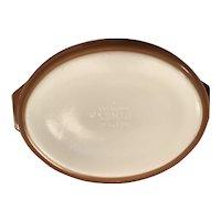 Oval Pyrex  Early American casserole -1960