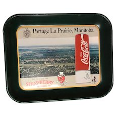 Coca-,Cola tray-Portage La Prairie, Manitoba,16,17and 18 the strawberry festival 1993