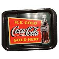 Coca-Cola tray/Ice cold Coca-Cola sold here- 1999