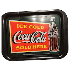 Coca-Cola tray/Ice cold Coca-Cola sold here- 1999