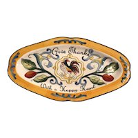 Fitz and Floyd oval plate-Ricamo/Platter