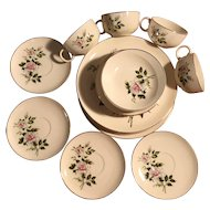 Delmar Marie-Crooksville, USA fine china , 20 piece set 22kt gold rim -1955
