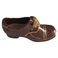 Men's Porcelain Brown Lace up shoe made in Germany 1940s