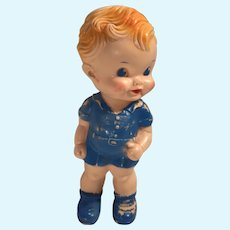 One piece squeaky  boy in blue sun rubber co. Ruth e Lewton 1950s