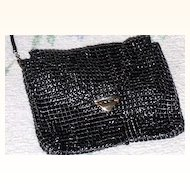 Black Towanny Enamel Mesh Purse~ VINTAGE at it's BEST!