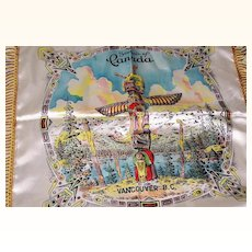 Canada Satin Pillow Cover Vancouver, B.C. Mint!