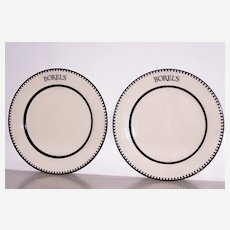 2 Homer Laughlin Dinner Plates Restaurant Ware Borels restaurant