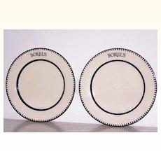 2 Borels Homer Laughlin China Dinner Plates Restaurant Ware