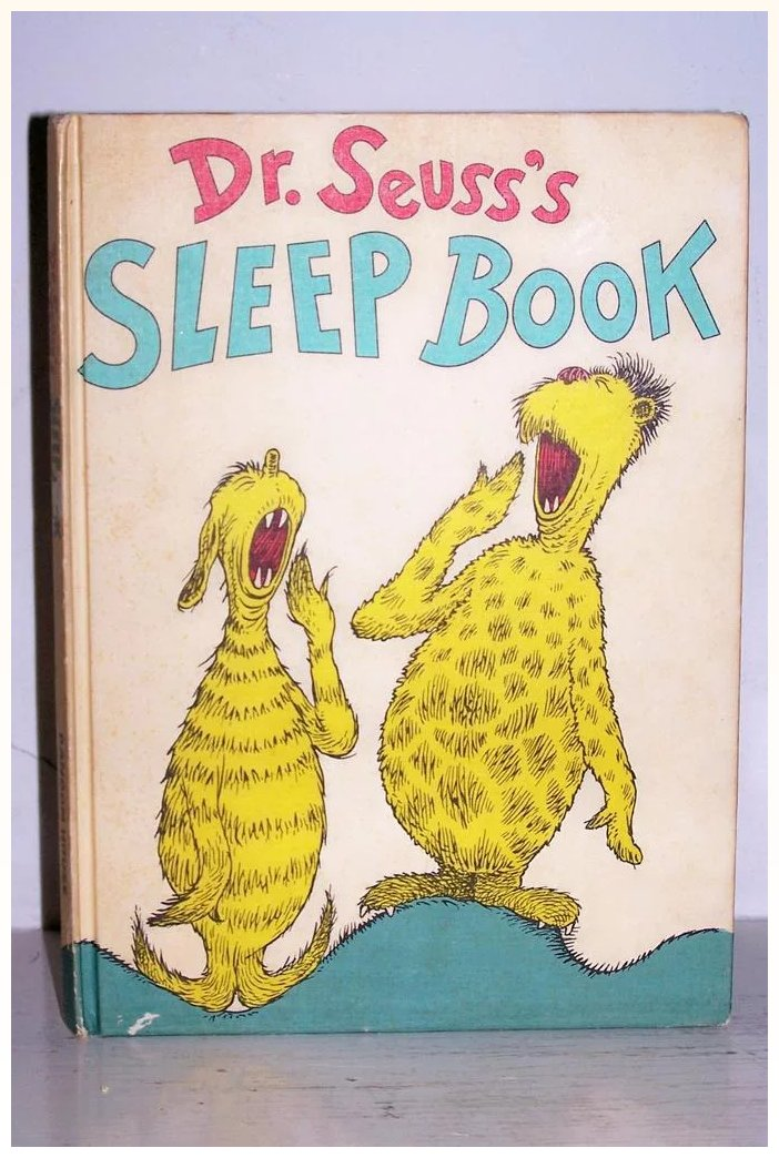 Dr Seuss S Sleep Book 1962 Excellent Kitchengarden