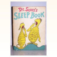 Dr. Seuss's Sleep Book 1962 Excellent