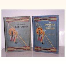 2 Edward Ellis Ornate Books 1907 & 1908 * American Frontier *