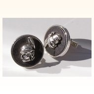 Swank American Indian Head Cuff Links