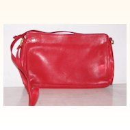 Ganson Red Leather Handbag shoulder / clutch