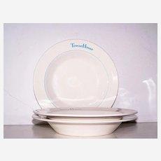 3 Del Webb's TowneHouse Soup Bowls Syracuse China Restaurant ware