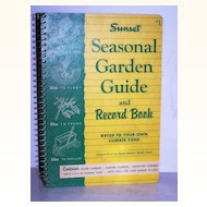 Sunset Garden Record Guide 1955 1st Edition
