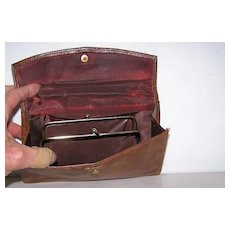 St.Thomas Leather Wallet Clutch with Coin Purse Unused