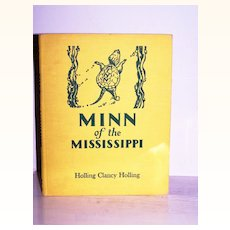 Signed 1st Edition Minn of the Mississippi  by Holling 1952