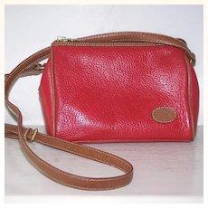 Liz Claiborne Red Pebbled Leather crossbody Purse  Shoulder Bag Handbag