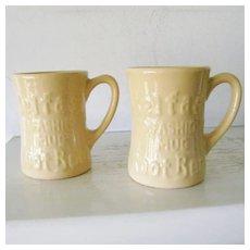 2 Tepco China Belfast Root Beer Mugs