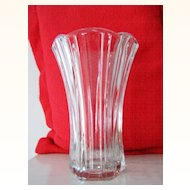 Anchor Hocking Tall CrystalGlass Vase Mint