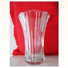 Anchor Hocking Tall CrystalGlass Vase Mint