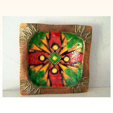 BOLD Enamel over Copper Square Dish