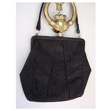 Town and Country Black Leather Handbag
