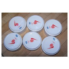 6  World Airways Airline Ashtrays  * Mint *