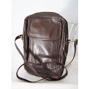 Brown Leather Unisex Shoulder Cross Body Bag Mint!