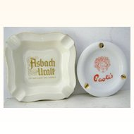 Rosenthal Adv. Ashtray Thomas Marktredwitz,Germany & Paoli's Ashtray