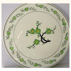 Hand painted porcelain cake plate Japan