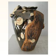 Ceramic Art Vase Natural Tree Motif