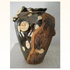 Ceramic Art Vase Natural Tree Motif