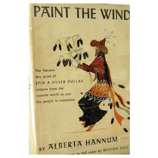 Paint the Wind 1st Edition Signed by Navaho Artist Yazz