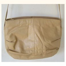 #215 Tan Leather Shoulder Bag purse