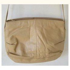 #215 Tan Leather Shoulder Bag purse
