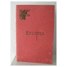 Recipe Booklet Saint Barnabas Hospital Women's Auxiliary