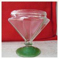 Octagonal Glass Vase / Pedestal Candy Dish