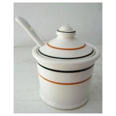 Wallace China Restaurant Ware Mustard Pot Circa 1930s