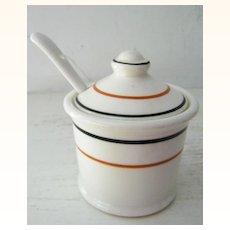 Restaurant Ware Mustard Pot Circa 1930s