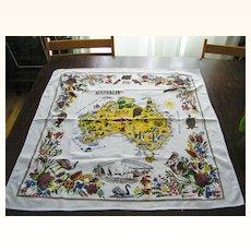 """Vintage Australian Tablecloth 31"""" x 33"""""""
