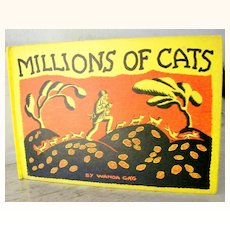 Millions of Cats Wanda Gag  1st 1st  1928 Rare Ex Libris  Bookplate