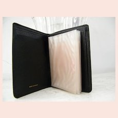 Ambassador Black Cowhide Leather Mens Wallet Mint