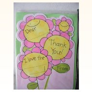 Vintage Children's Thank You Cards