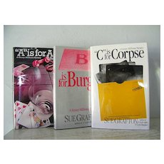 A is for Alibi,  B is for  Burglar,  C is for  Corpse  Sue Grafton, 3 novels