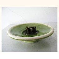 Vintage Floral Frog California pottery