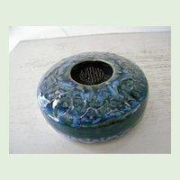 Signed Art Pottery Floral Frog Mint condition