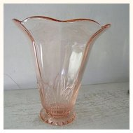 Large Imperial Collectors Guild Pink  Glass Vase